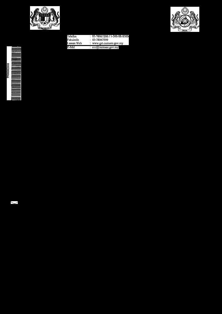 Sijil Pendaftaran Cukai Barang & Perkhidmatan (GST)